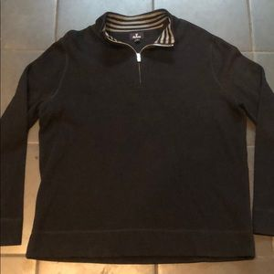 Black Men's Pull Over Sweater XL Faconnable